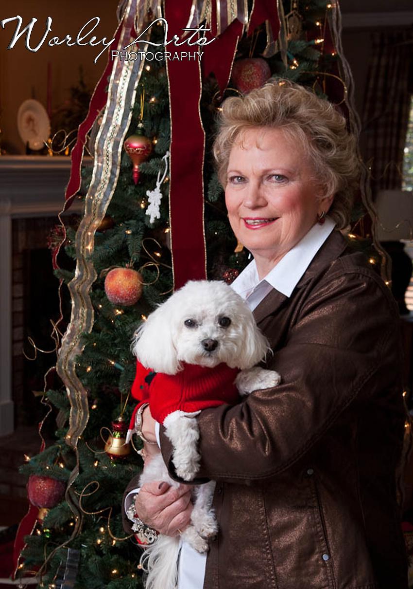 pet Christmas family portrait