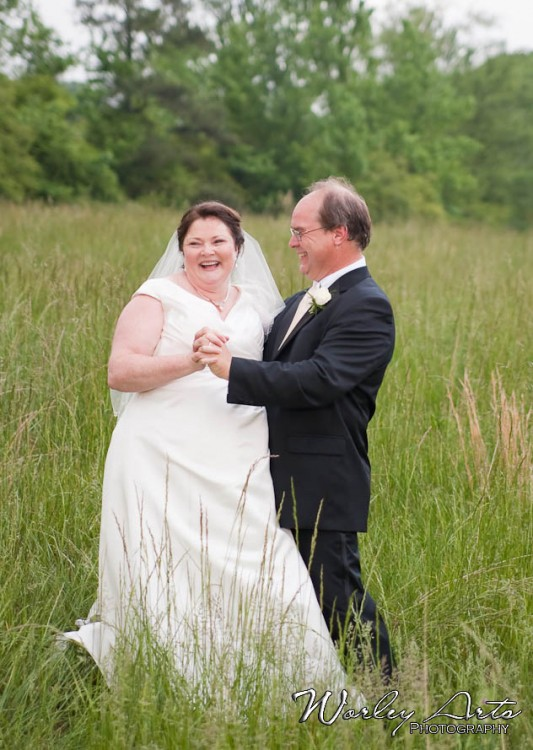 newlyweds laugh