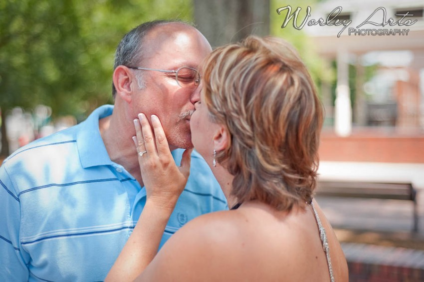 kissing couple and ring