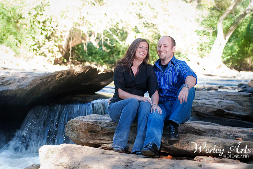 engagement session river rocks