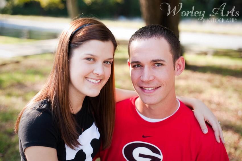 Sarah and Justin engagement photo
