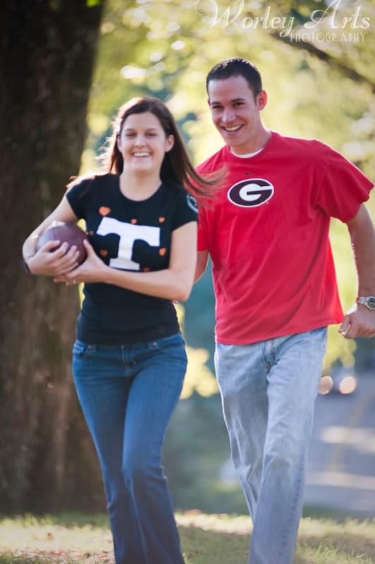 football Sarah and Justin
