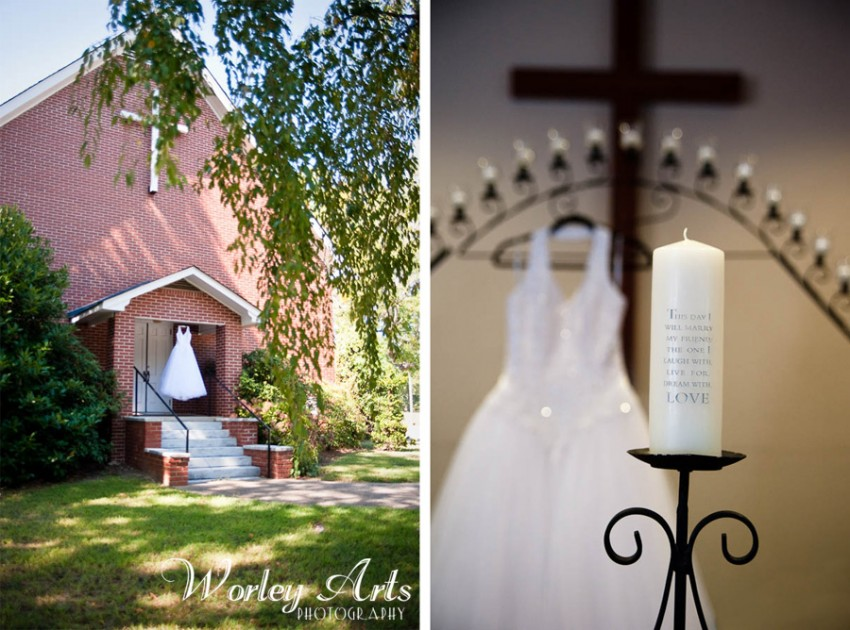 wedding dress chapel unity candle