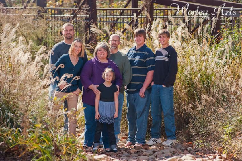 family photo in grasses