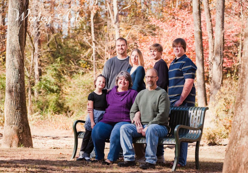 outdoor fall family portrait