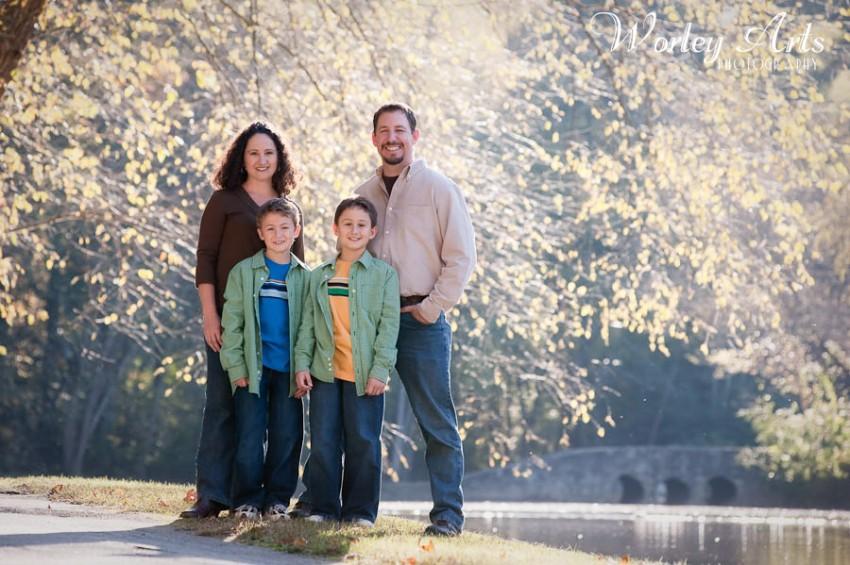 autumn lake family