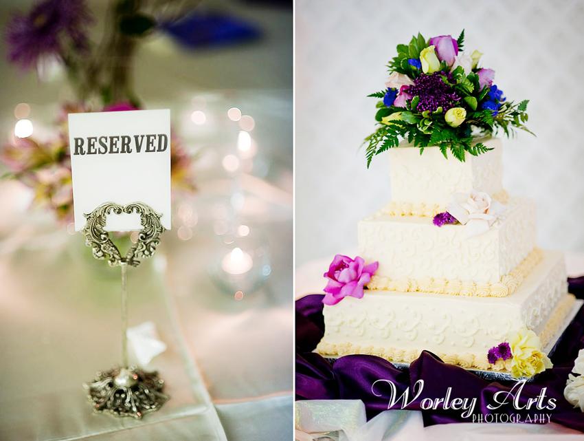 reception details cake