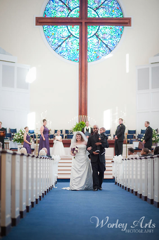 bride groom son in recessional