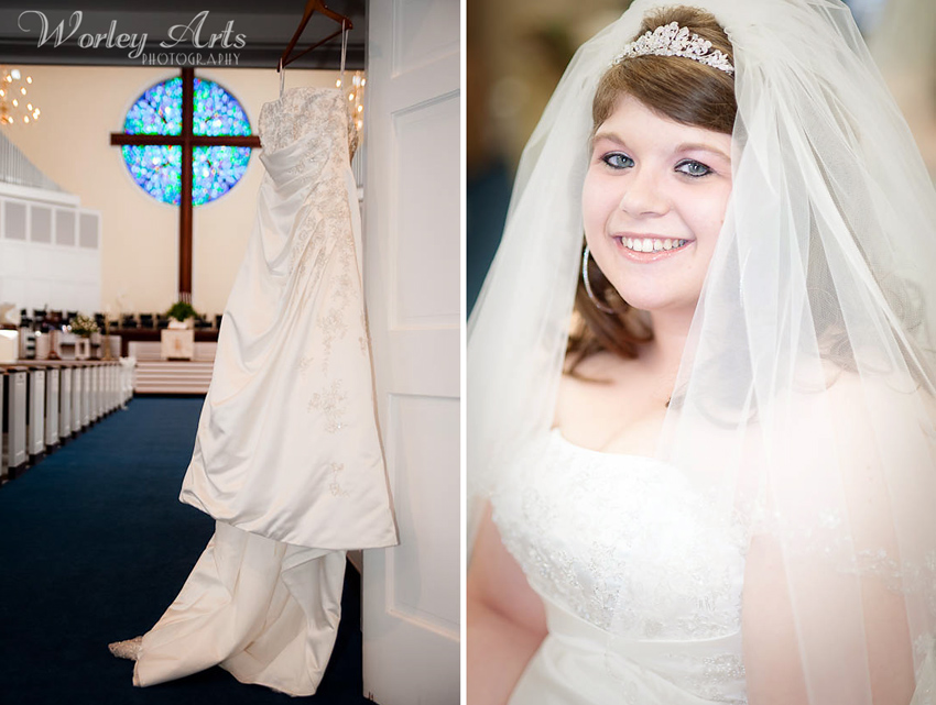 Bride Laurie and dress