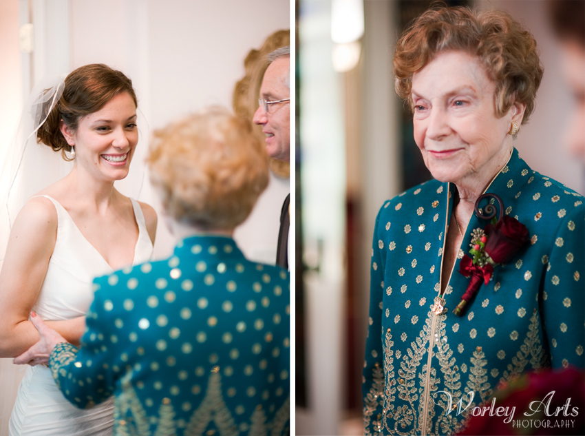 bride and her grandmother