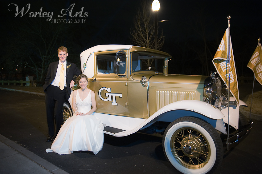 Georgia Tech alumni black and gold wedding