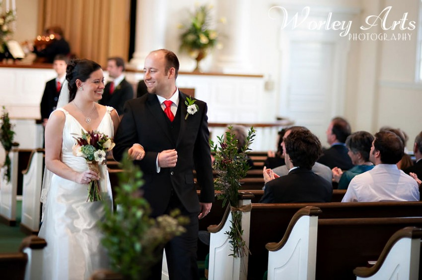 recessional bride groom