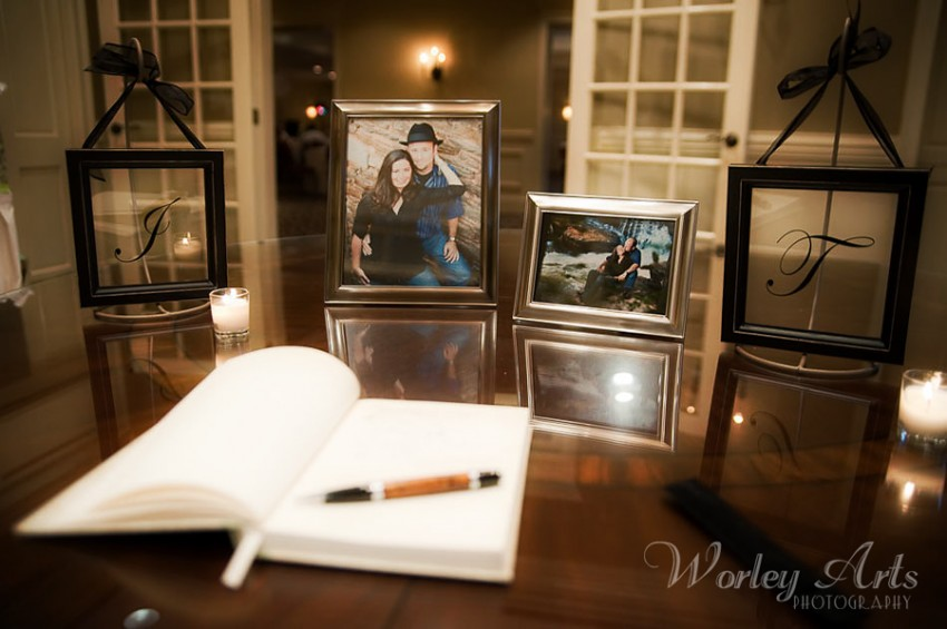 guest book and photos