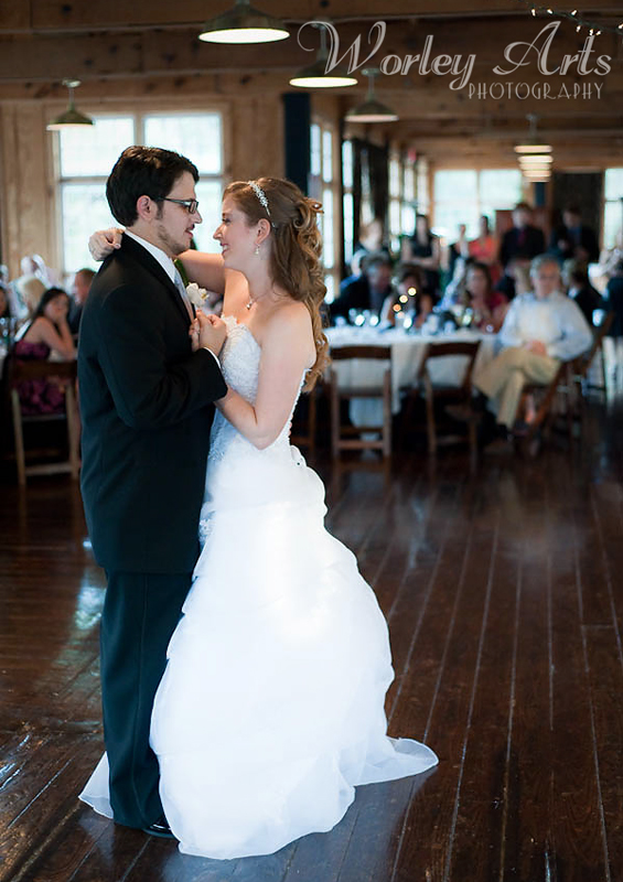 bride and groom first dance Ivy Hall in Roswell