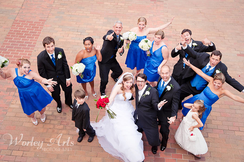 fun bridal party at Roswell Mill Ivy Hall