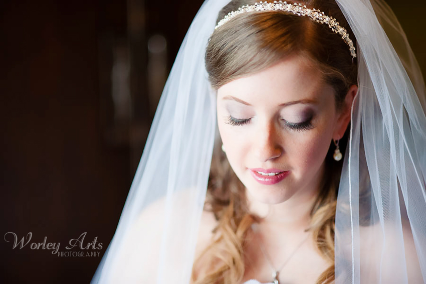 bridal portrait at Roswell Mill's Ivy Hall