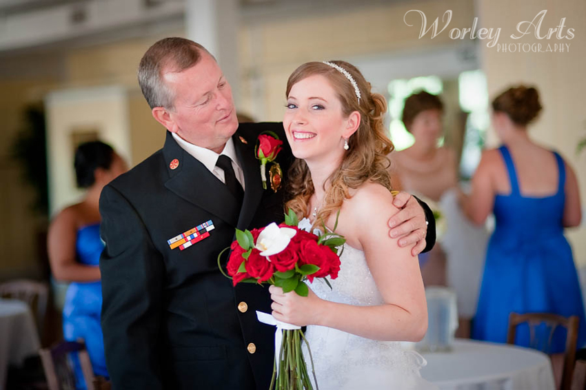 bride Kaila and father