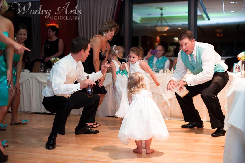 fun dancing wedding